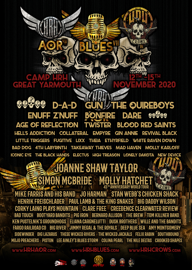 HRH AOR, HRH Blues & HRH CROWS Combine Forces in a 3 Day, 3 Arena, 70 Band Monster Edition Aptly Named HRH ABC