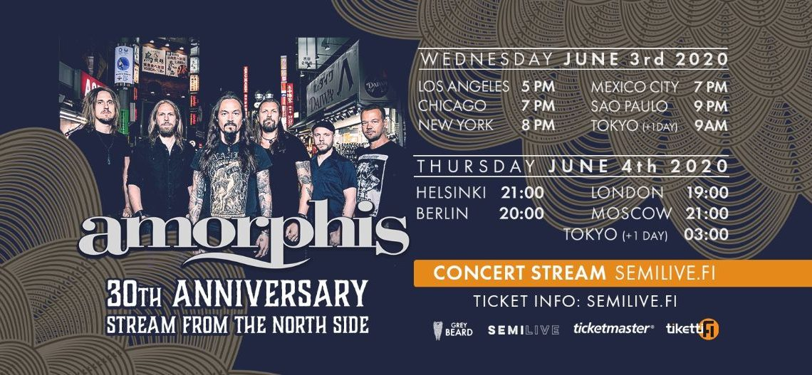 AMORPHIS – announce 30th anniversary Stream From The North Side