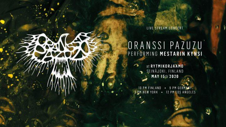 Oranssi Pazuzu broadcast 'Mestarin Kynsi' live tomorrow