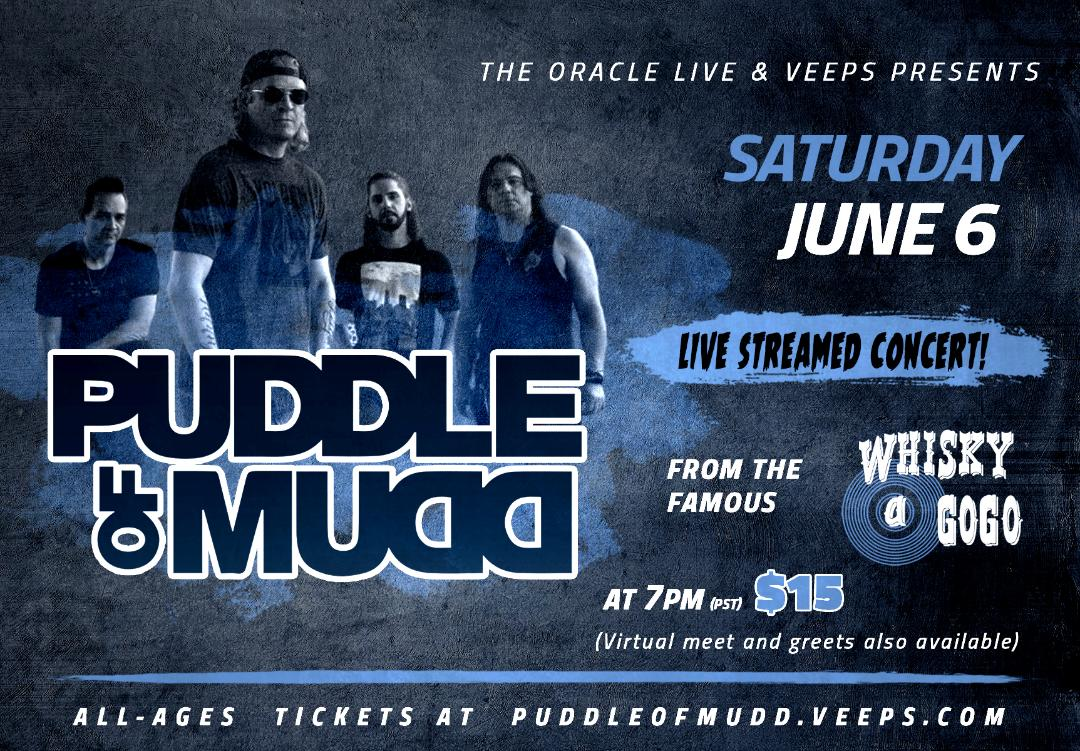 Puddle of Mudd – LIVE STREAM CONCERT JUNE 6TH