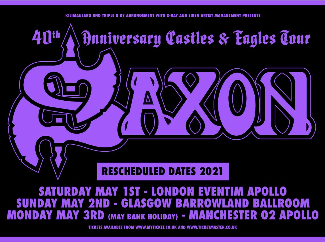 SAXON – Postpone UK Shows Till 2021