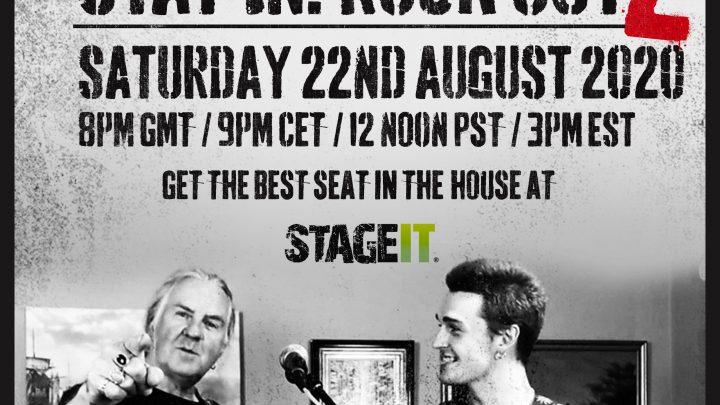 "Biff & Seb – Saxon frontman Biff Byford & his son Seb (Naked Six) Announce ""Stay In. Rock Out. 2"""