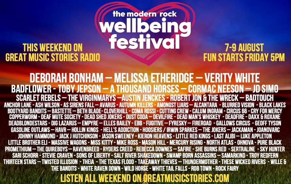 100 BANDS STEP UP FOR GREAT MUSIC STORIES' WELLBEING RADIO FESTIVAL THIS WEEKEND