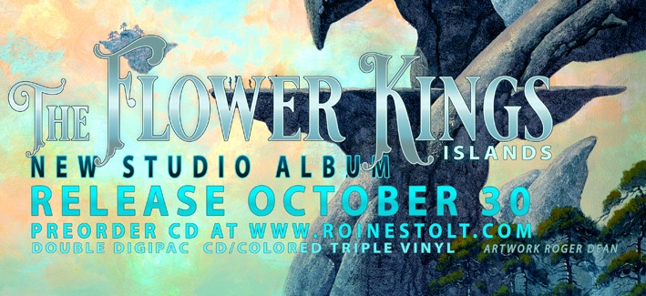 THE FLOWER KINGS – announce October 30th as release date for new double album 'Islands'