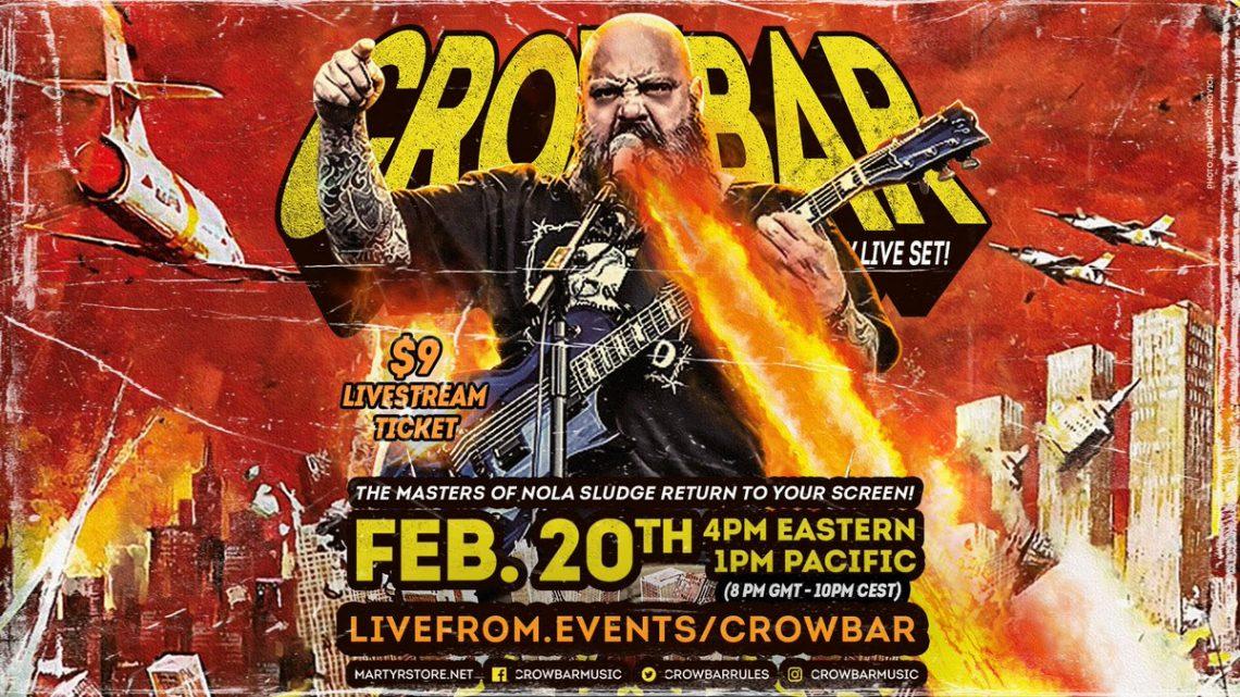 CROWBAR announce livestream and tease new album