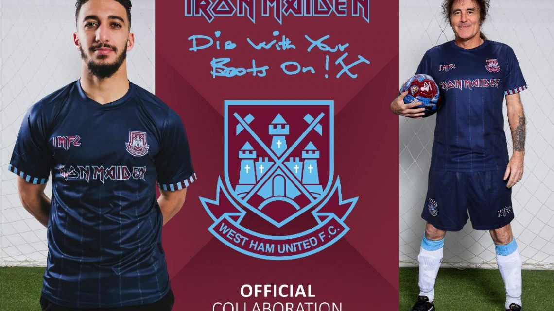 Iron Maiden and West Ham United launch new 'Away Shirt' and training range