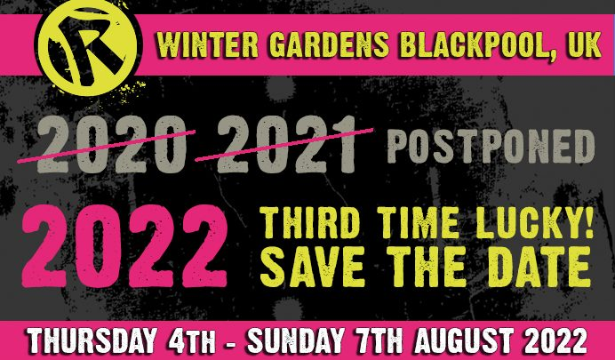 Rebellion Festival and Blackpool Winter Gardens Present – 'Hits 25 – Celebrating 25 years since Holidays In The Sun' – August 7th